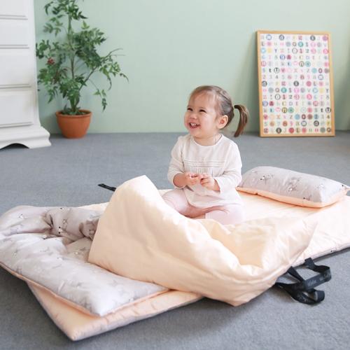 아리베베 항균 어린이집 사계절 낮잠이불 세트, 토끼