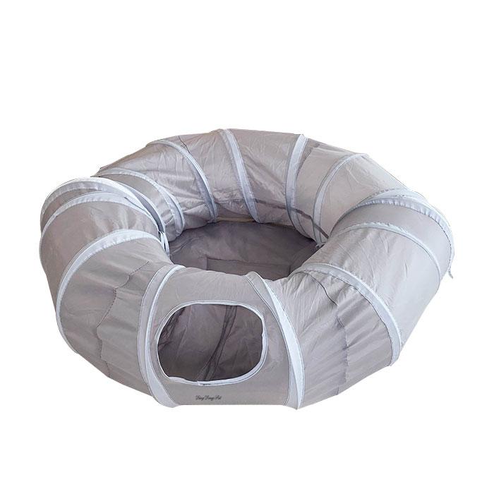딩동펫 고양이 터널하우스 도넛형, 혼합색상, 1개
