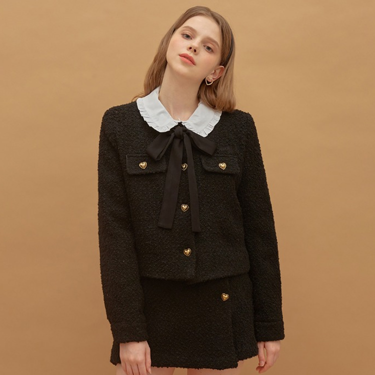 [셀럽 착용] 하트클럽 여성용 Heart Tweed Jacket