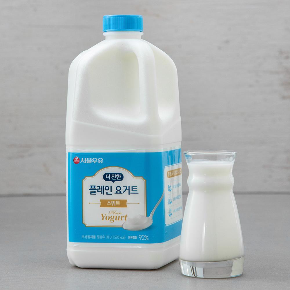 서울우유 더 진한 스위트 플레인 요거트, 1800ml, 1개