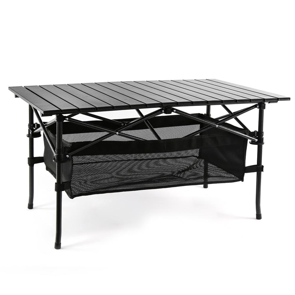[코멧 캠핑] 코멧 알루미늄 접이식 캠핑 테이블 대형 블랙 - 랭킹1위 (36990원)