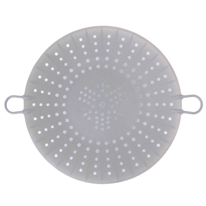 키친팩토리 파스텔 실리콘 찜기 모던그레이 1단, 24.5 x 5.5 cm, 1개