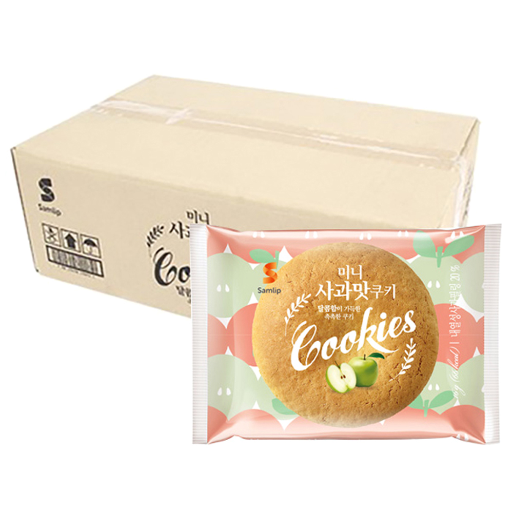 삼립 미니 사과맛 쿠키, 16g, 100개