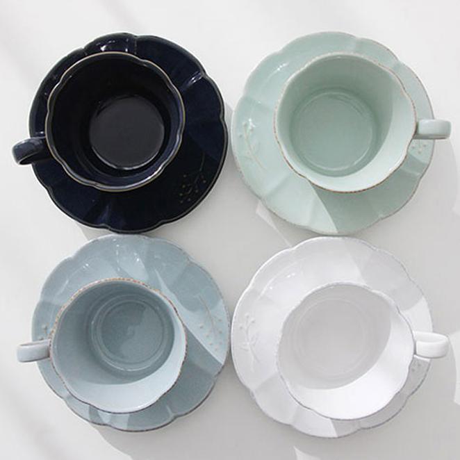 쓰임 엘포레 카푸치노 커피잔 4색 세트, 혼합 색상, 1세트