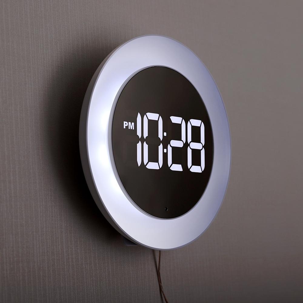 오리엔트 미드나잇 LED 벽 탁상 겸용 무드등 시계 OT891LD, 혼합색상