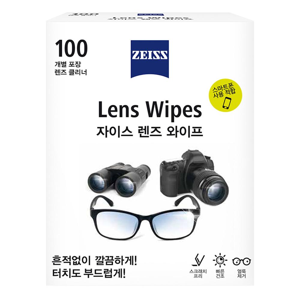 자이스 렌즈 와이프 클리너, 단일 상품, 100개입