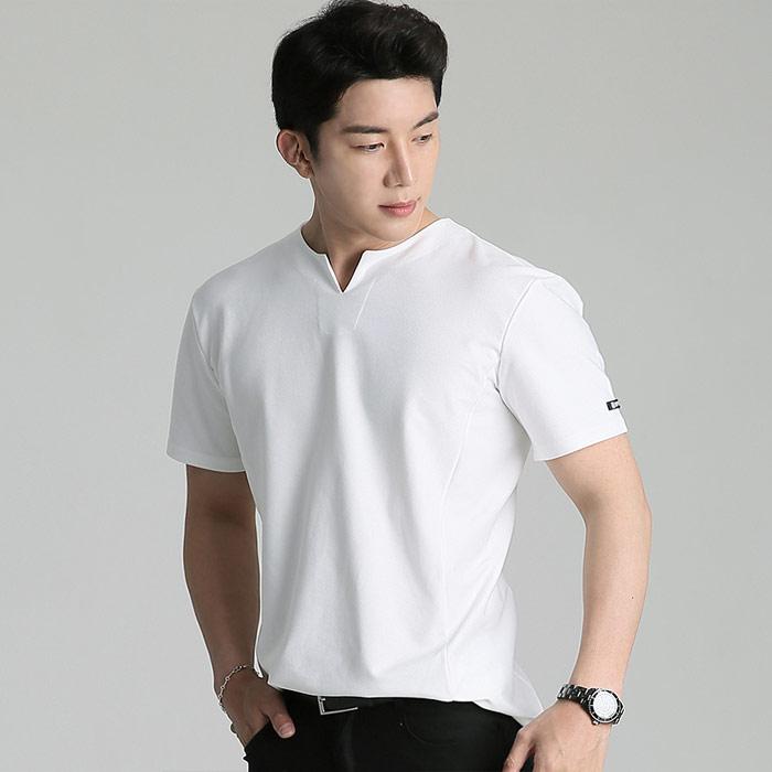 업클라스 남성용 V슬릿 반팔 티셔츠 b201