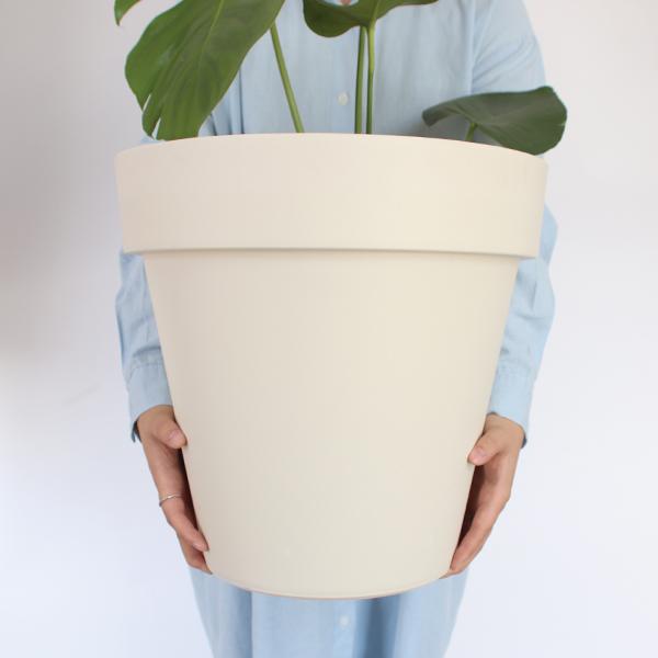 모리앤 베이직 원형 저면관수 화분, 화이트
