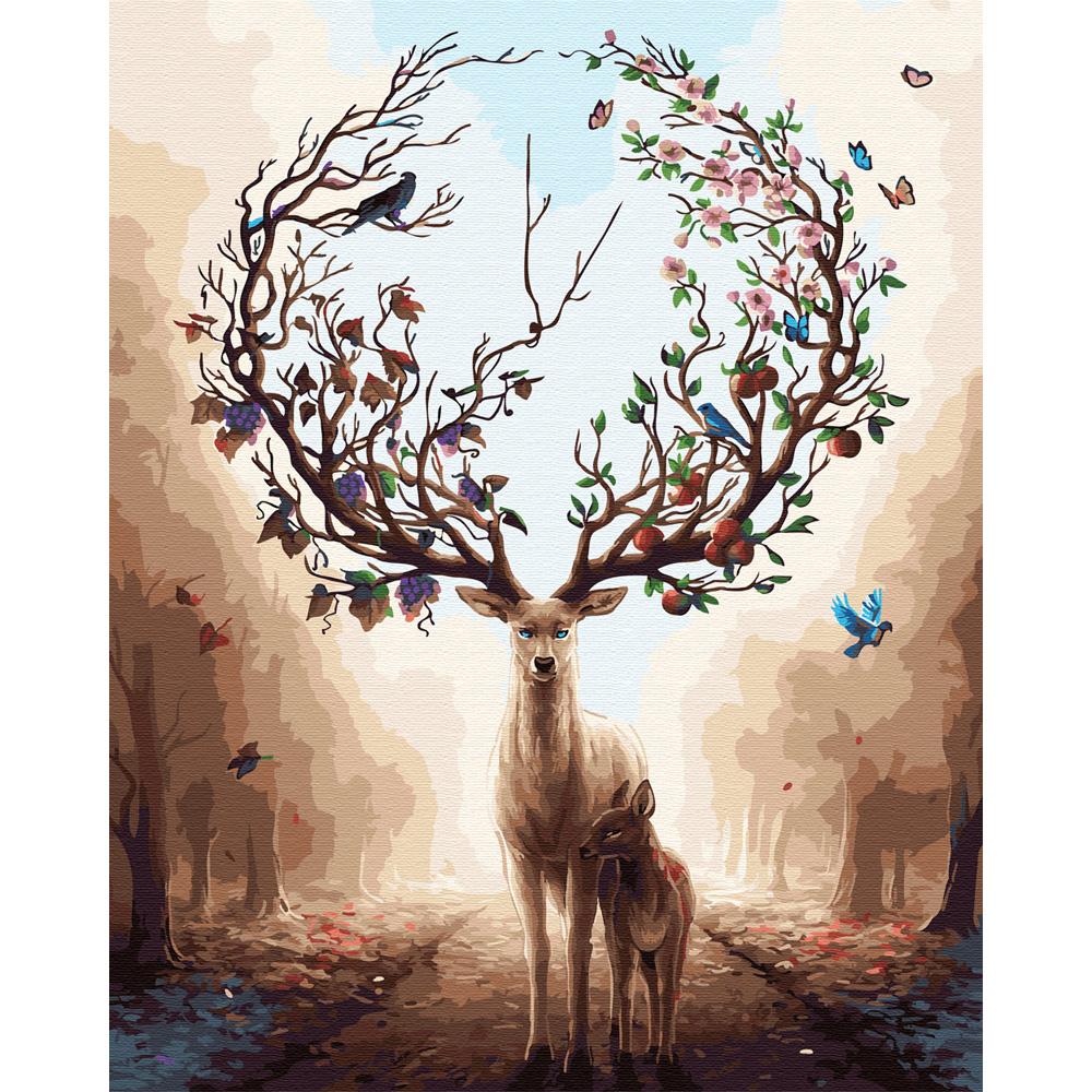 아트조이 DIY 명화 그리기 세트 40 x 50 cm, 꿈에서 본 꽃사슴