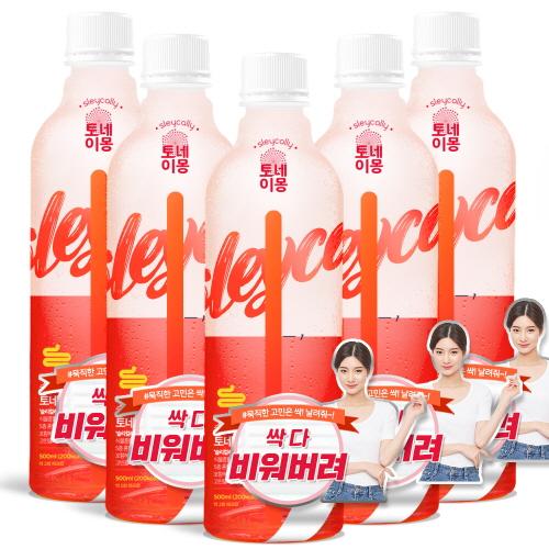 슬리컬리 토네이몽 자몽맛, 500ml, 5개
