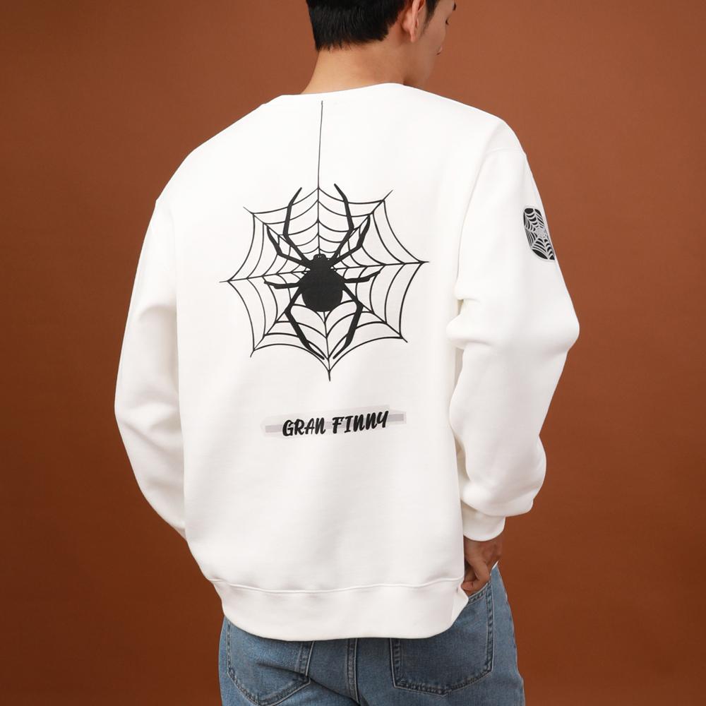 그랜피니 공용 스파이더 맨투맨 티셔츠 GFMT101
