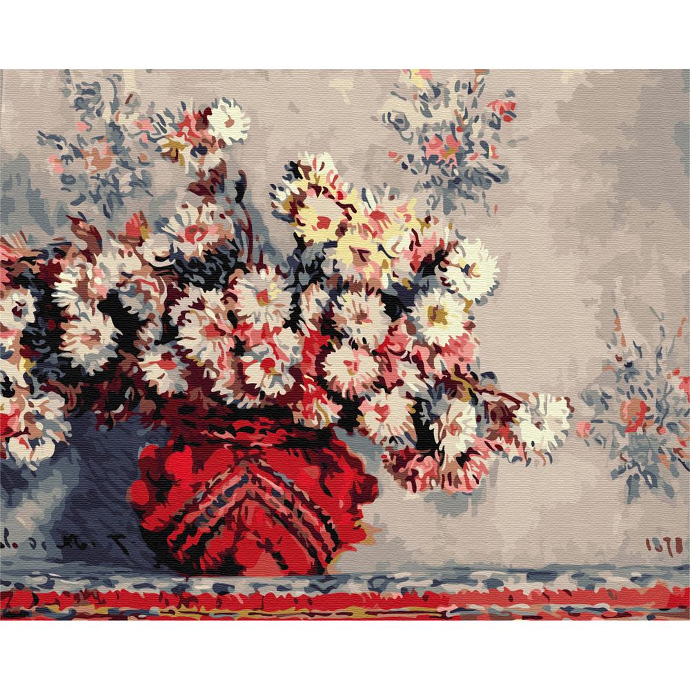 아트조이 DIY 명화그리기 키트 가로형 50 x 40 cm, 클로드 모네 - 국화가 있는 정물