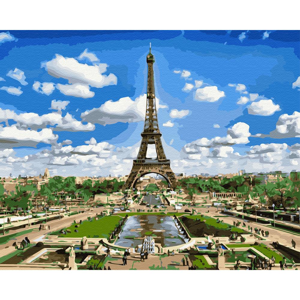 아트조이 DIY 명화 그리기 세트 40 x 50 cm, 구름 속 에펠탑
