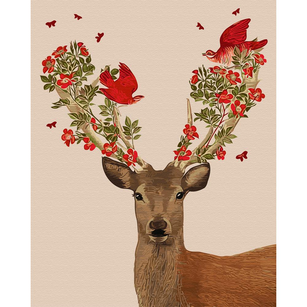 아트조이 DIY 명화 그리기 세트 40 x 50 cm, 붉은 꽃사슴