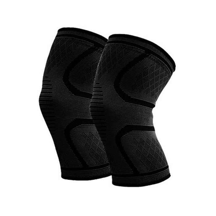 포시즌 타이트 무릎 보호대 블랙 2p, 1세트
