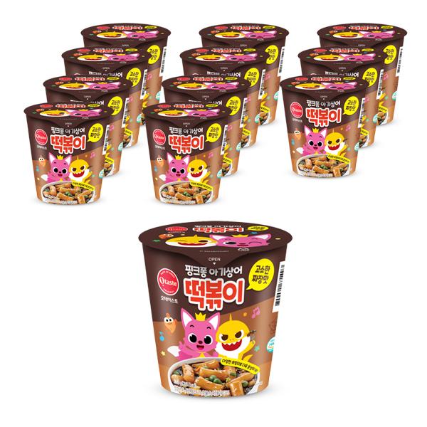 핑크퐁 아기상어 고소한 짜장맛 떡볶이, 103g, 12개