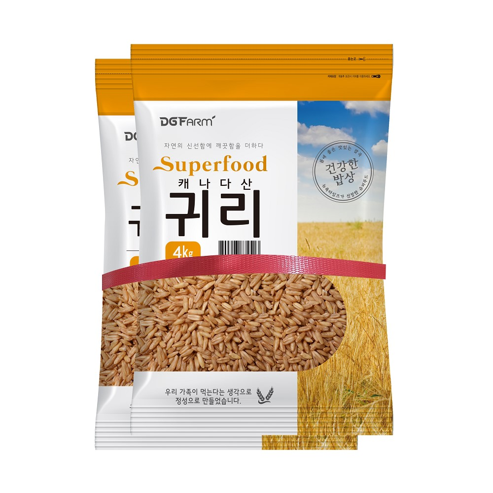 대구농산 캐나다산 귀리쌀, 4kg, 2개