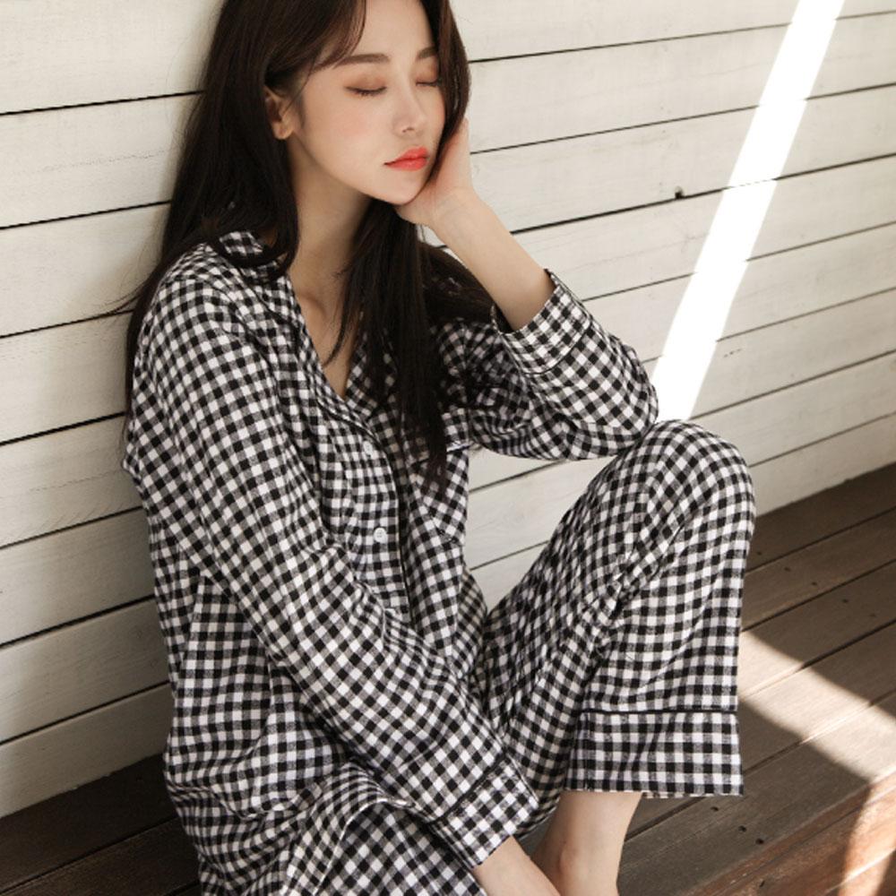 [잠옷] 어나더디 커플용 잔체크 잠옷 상하의 세트 - 랭킹44위 (19840원)