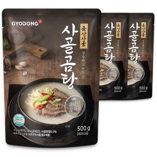 교동식품 사골곰탕, 500g, 3개입