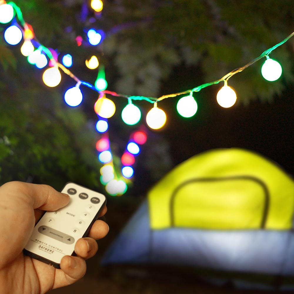 데이홈 USB 앵두전구 100구 + 리모컨 + 전용 어답터 + 건전지, 혼합색상