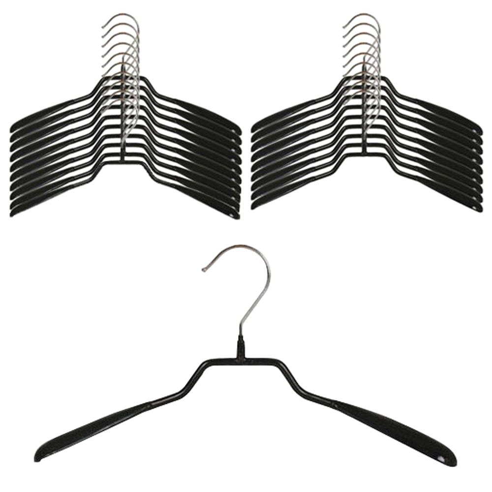 도도 논슬립 자켓 코팅 옷걸이, 블랙, 20개입