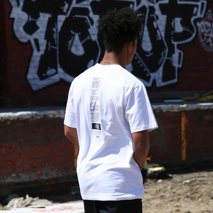 플루크 남녀공용 백사이드 아트웍 반팔티셔츠 FST107