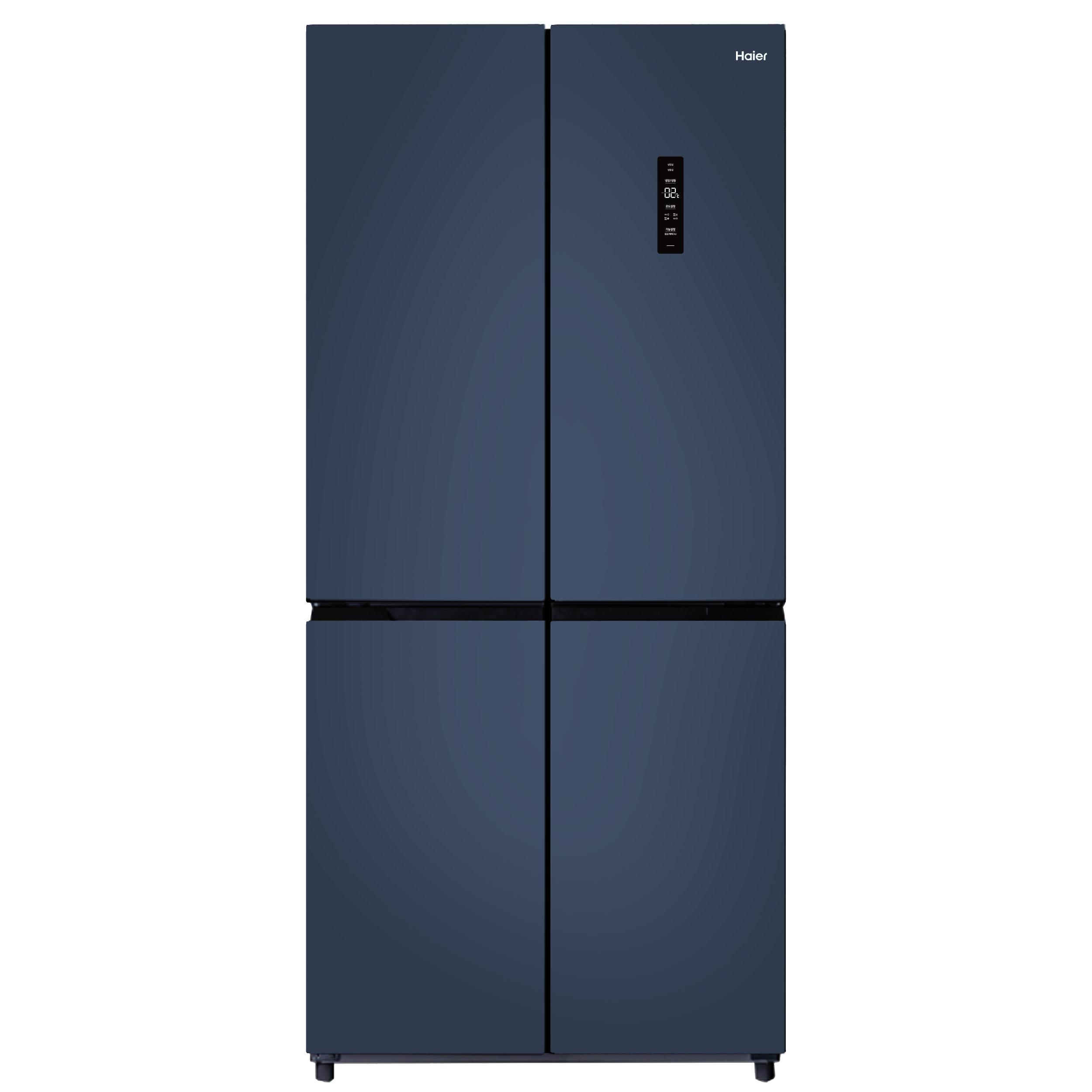 하이얼 인버터 세미빌트인 양문형 4도어 냉장고 HRS445MNB 433L 방문설치-8-5430202750