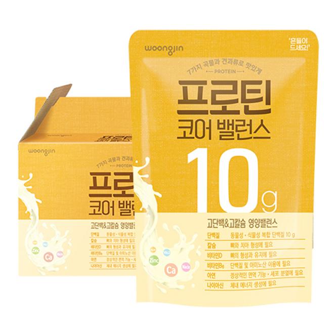 웅진 프로틴 코어밸런스 저지방 단백질 음료, 150ml, 14개