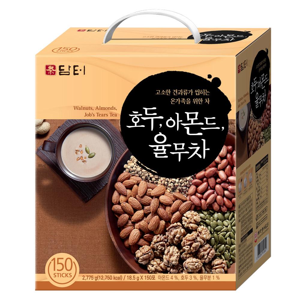 담터 호두 아몬드 율무차 스틱형, 18.5g, 150개입