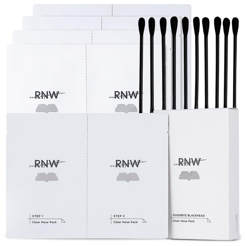 RNW 투스텝 클리어 노우즈 팩 step1 3g x 5p + step2 4g x 5p + 압출면봉 10p 세트, 1세트