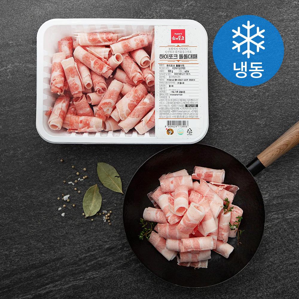 하이포크 한돈 대패삼겹살 (냉동), 500g, 1팩