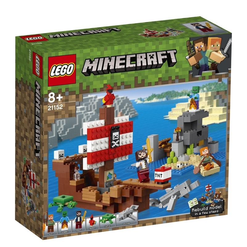 레고 마인크래프트 21152 해적선 모험, 혼합 색상