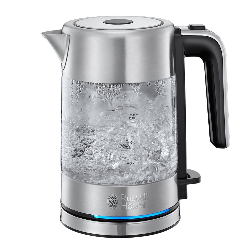 러셀홉스 컴팩트 홈 글라스 전기 커피 포트, RH-24191-70KR