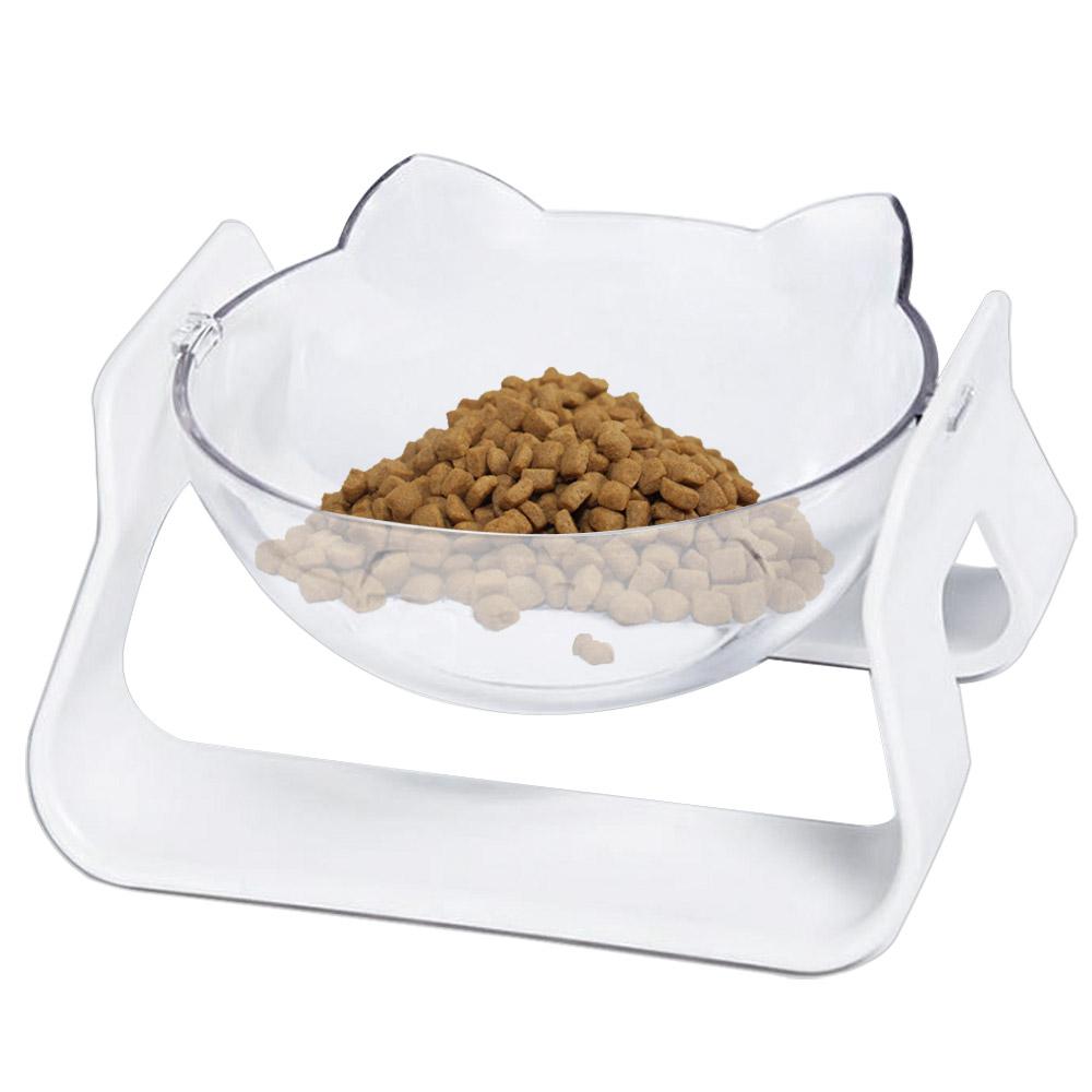 고놈참 각도조절 강아지 고양이 식기 원형 식탁 1구, 1개, 화이트