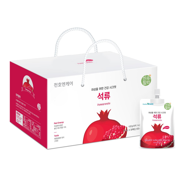 천호엔케어 하루활력 여성을 위한 건강 시크릿 석류, 70ml, 30개입