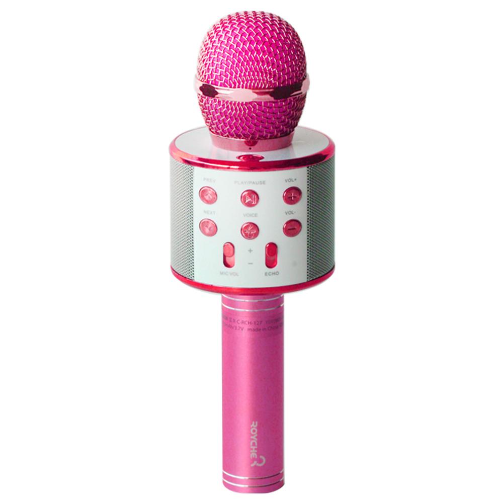 로이체 음성변환 MR전환 블루투스마이크, 40KM(핑크)