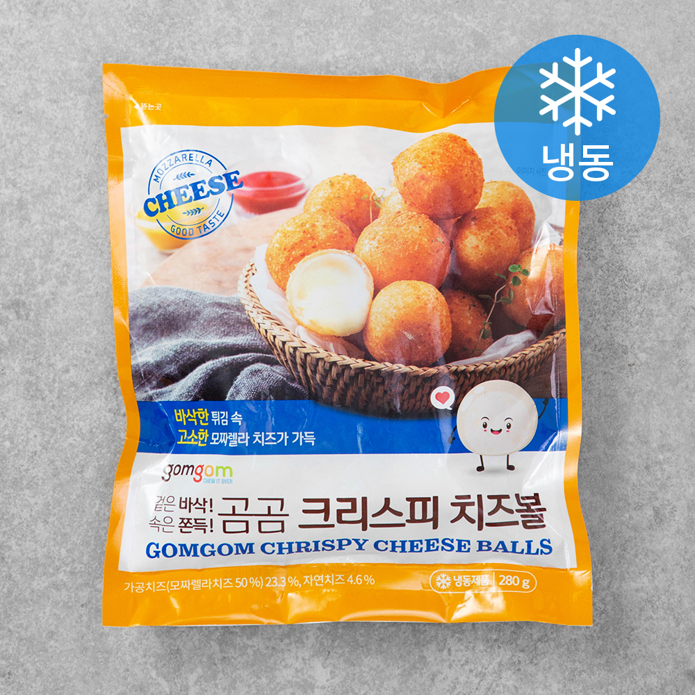 곰곰 크리스피 치즈볼 (냉동), 280g, 1개