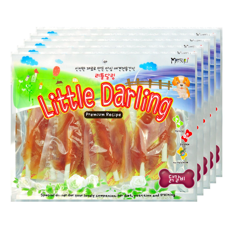 리틀달링 애견간식 사사미, 닭갈비, 5개입