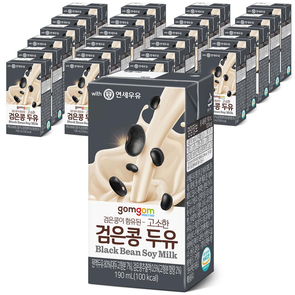 곰곰 고소한 검은콩 두유, 190ml, 24개