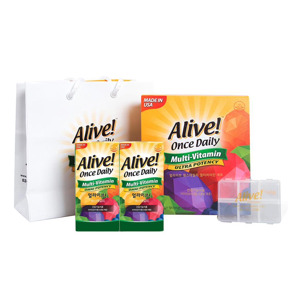 얼라이브 원스데일리 멀티비타민 선물세트, 120정, 1세트