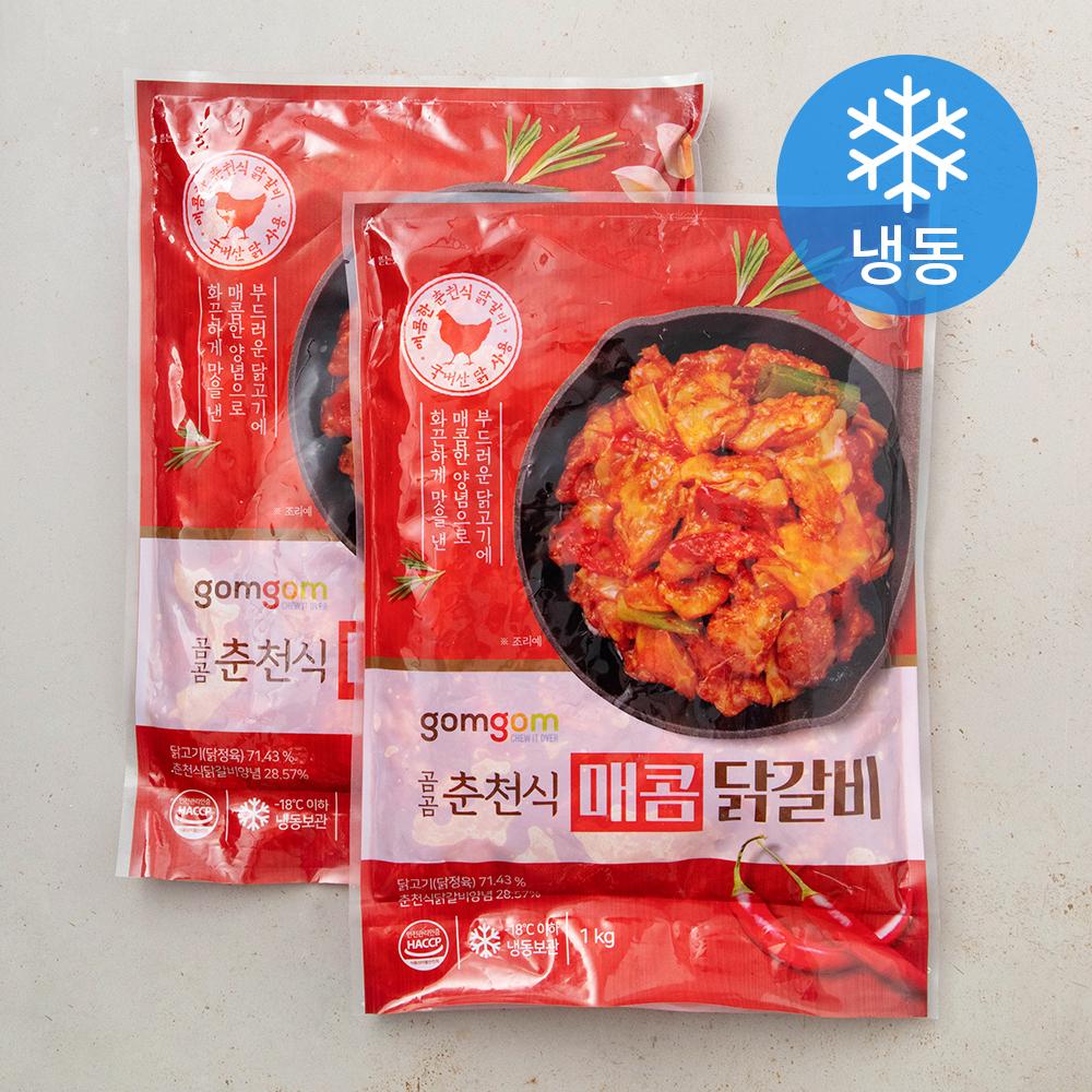 곰곰 춘천식 매콤 닭갈비 (냉동), 1kg, 2개