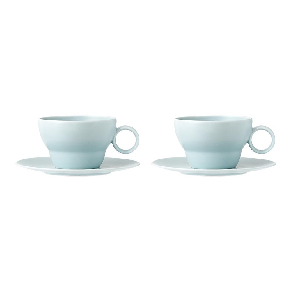 보울보울 볼볼빈티지 2인조 커피잔 세트, 스카이블루, 1세트