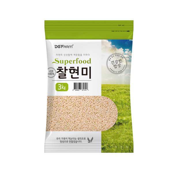 건강한밥상 국산 찰현미, 3kg, 1개