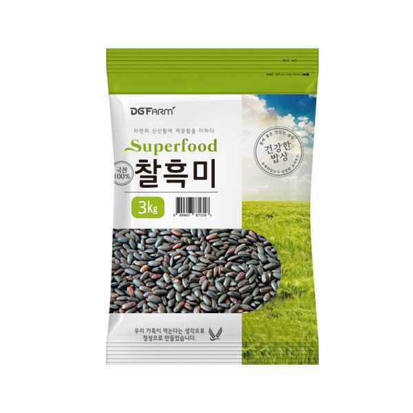 건강한밥상 국산 찰흑미, 3kg, 1개