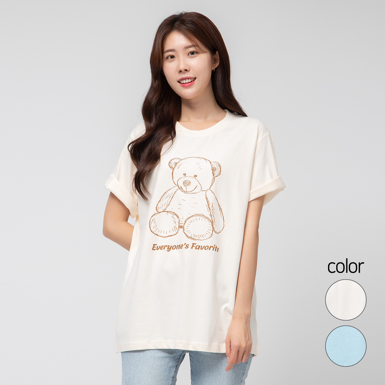 캐럿 여성용 릴렉스 핏 그래픽 티셔츠 에브리원즈 페이버릿