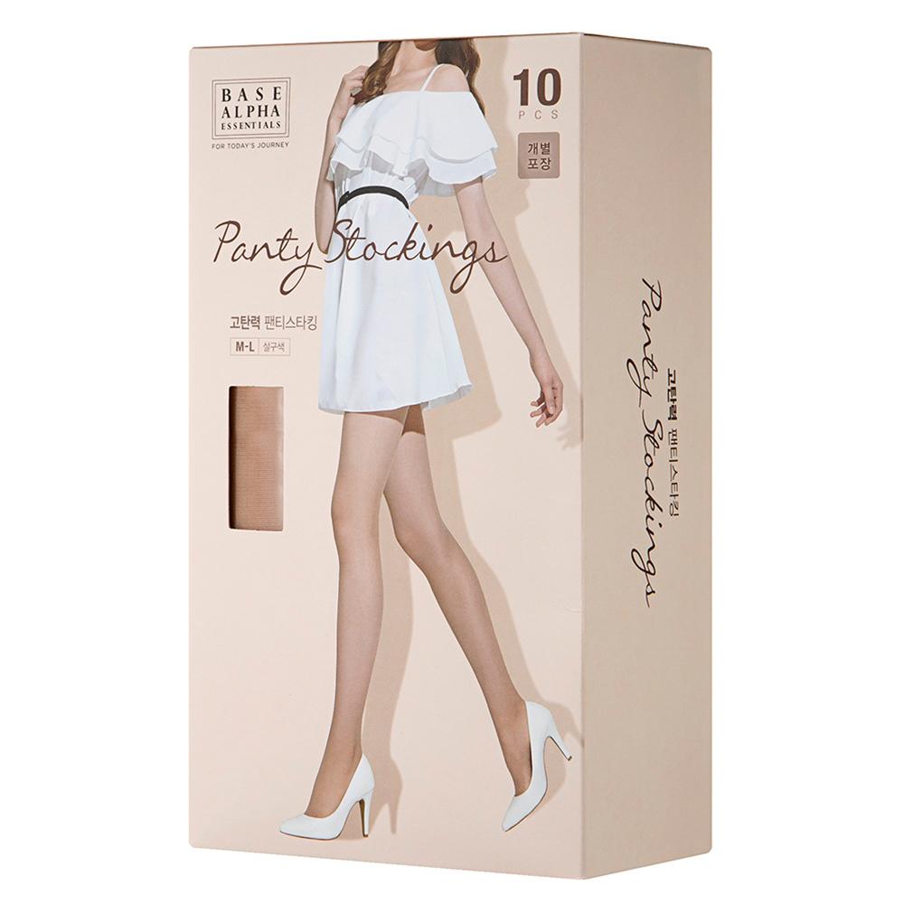 베이스알파 에센셜 고탄력 팬티스타킹 20D 10p 개별 포장형