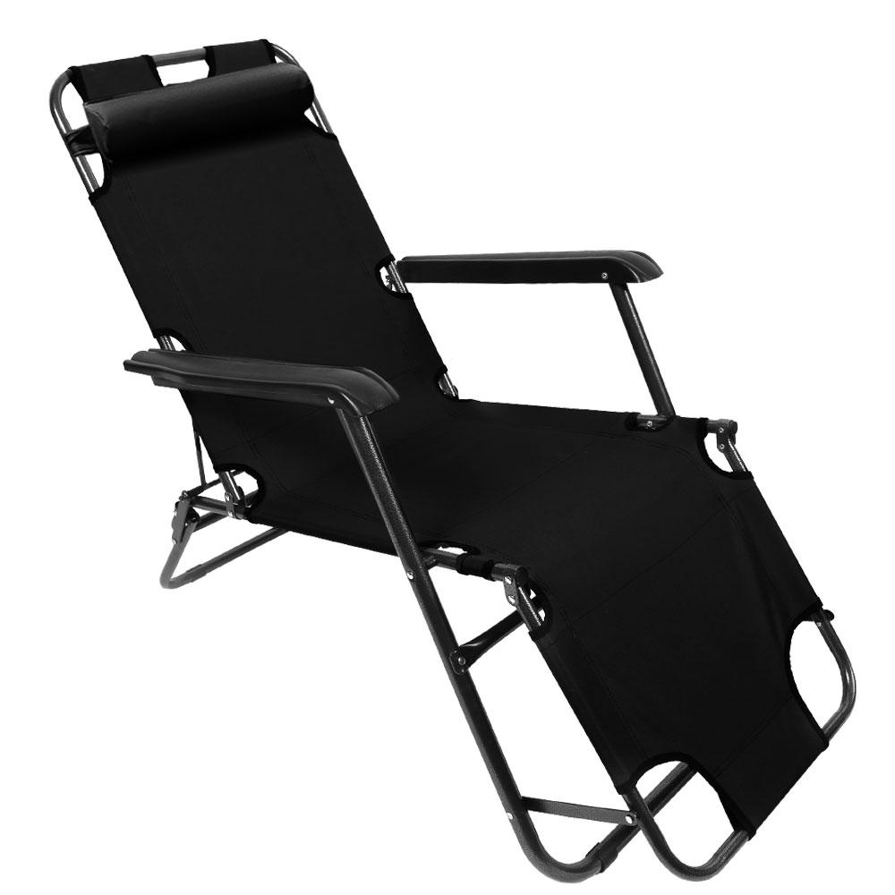 K4CAMP K4 3단 접이식 침대의자, 블랙, 1개