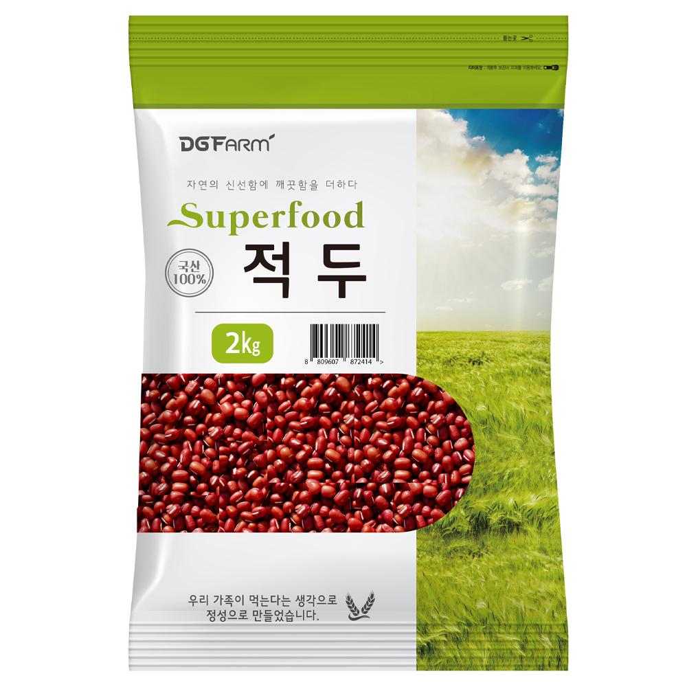 건강한밥상 2020년 햇곡 국산 적두, 2kg, 1개