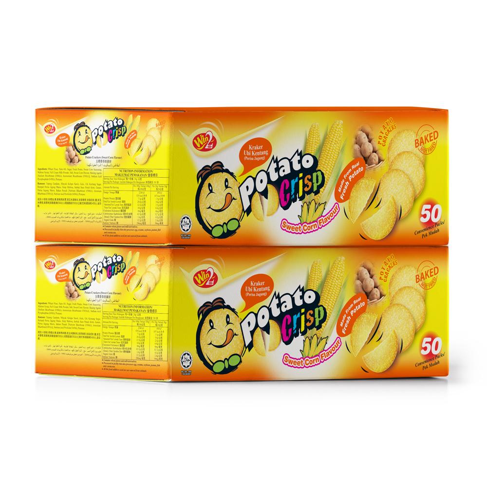 윈윈푸드 포테이토 크리스프 스낵 스위트콘맛, 20g, 100개