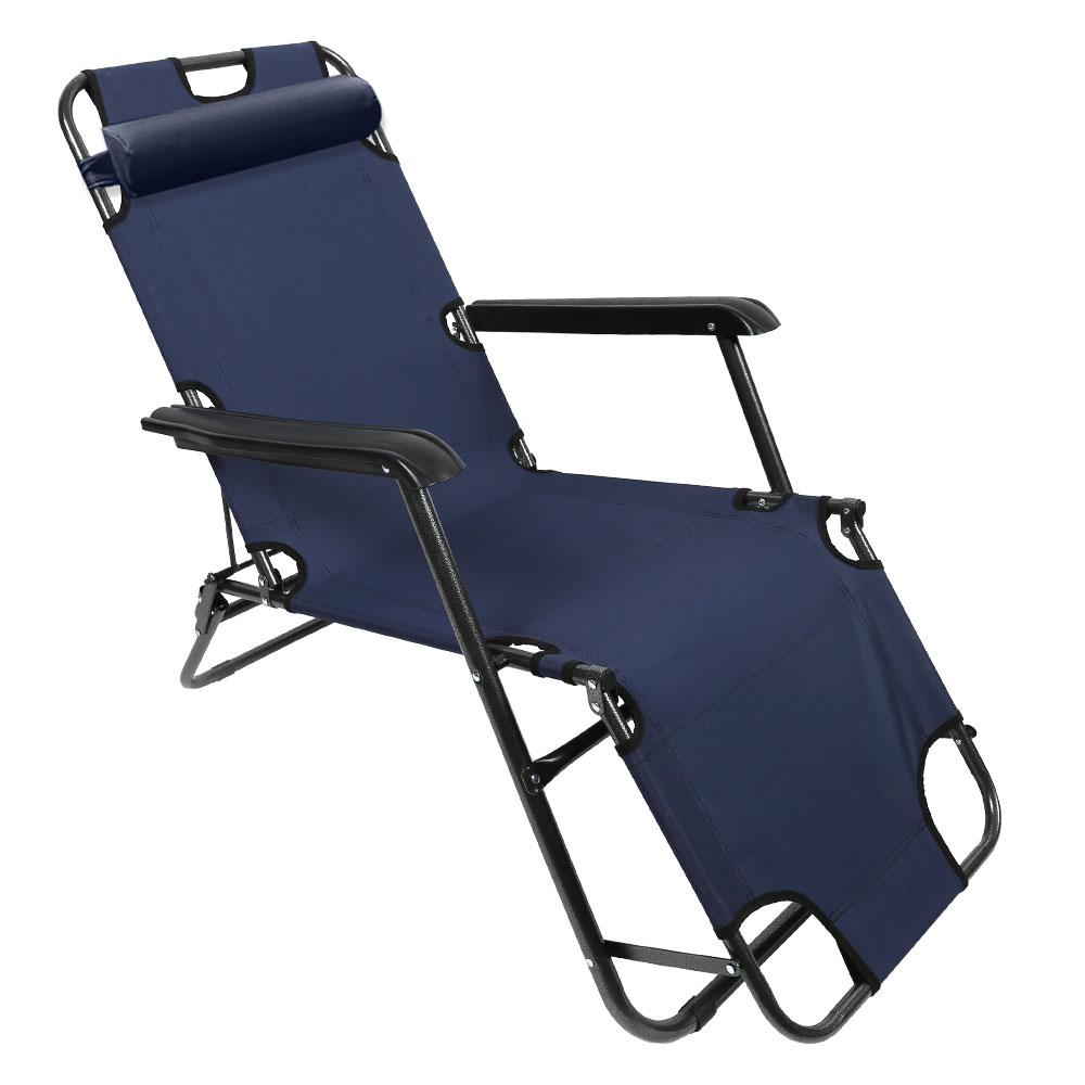 K4Camp K4 3단 접이식 침대 캠핑 낚시 의자, 네이비, 1개